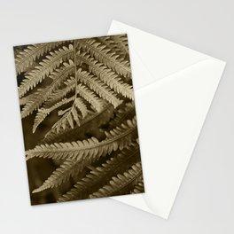 Copper Penny Ferns Glisten Stationery Cards