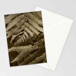 Copper Penny Ferns Glisten Stationery Cards