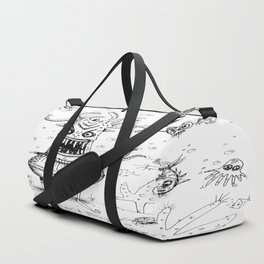 Happy Squid Boy and Friends sketch Duffle Bag