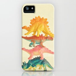 Dinosaur Antics iPhone Case