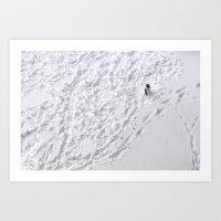 Lonely Snowman Art Print
