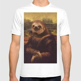 Sloth  Mona Lisa T-shirt