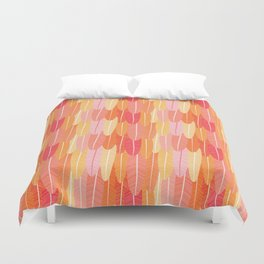 Colourful seamless pattern with Flamingo feathers by Julia Gosteva Duvet Cover