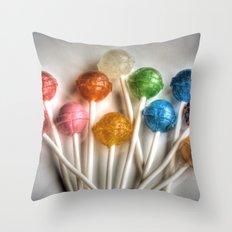 Lollipops Throw Pillow