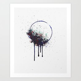 Brain Corrosion Art Print