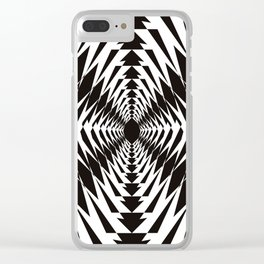 Trippy in BW Clear iPhone Case