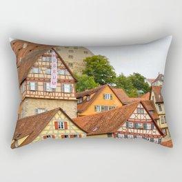 Traditional medieval German houses Rectangular Pillow