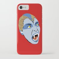 sylvia plath iPhone & iPod Cases featuring The Lair of the White Worm - Sylvia Marsh by AdrienneD