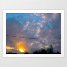 Sunset from my house 3 Art Print