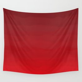 Glowing Garnet Gradient Wall Tapestry