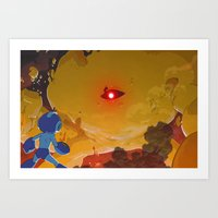 Yellow Demon Art Print