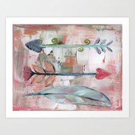 Heart Arrows Art Print