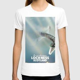 Loch Ness Scotland monster vintage travel poster T-shirt