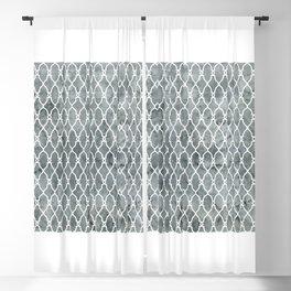 Smoke Trellis Pattern Blackout Curtain