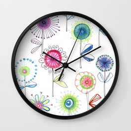Flowers for the Soul Wall Clock