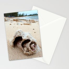 Conch on Bahama Beach Stationery Cards