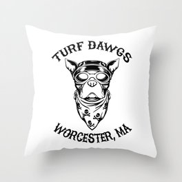 Worcester Turf Dawgs Throw Pillow