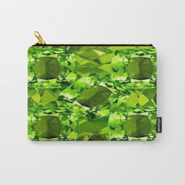 Chartruse-Yellow-Green Peridot Gems Abstract for August Carry-All Pouch