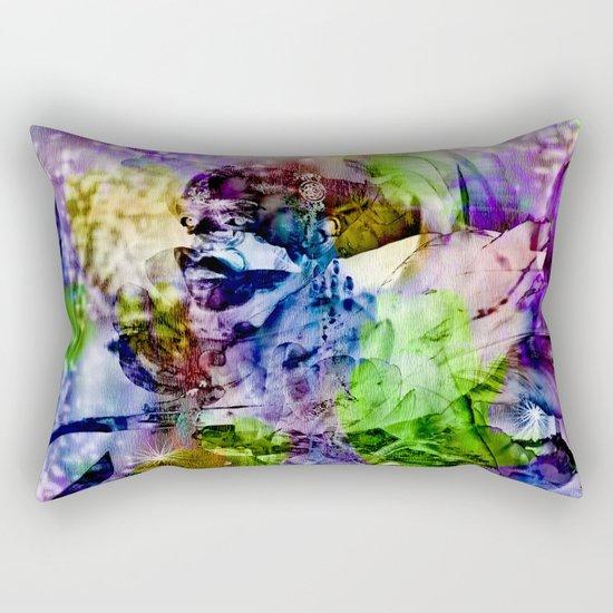 Oriental Dream of Beauty Rectangular Pillow