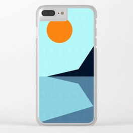 Abstract and geometric landscape 10 Clear iPhone Case