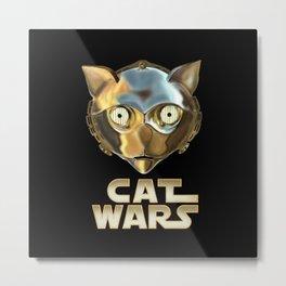 Cat Wars C3PO Metal Print
