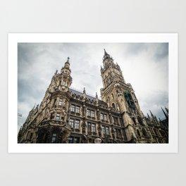 New City Hall, Marienplatz, Munich, Germany Art Print