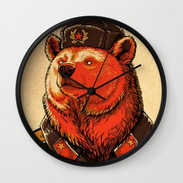 Work Harder, Comrade! Wall Clock