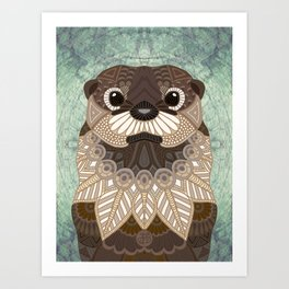 Ornate Otter Art Print