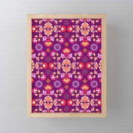 Fiesta Folk Purple Framed Mini Art Print