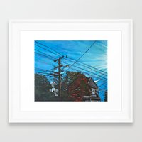 brompton Framed Art Prints featuring Brompton Ave. by Rebecca Sandford-Smith