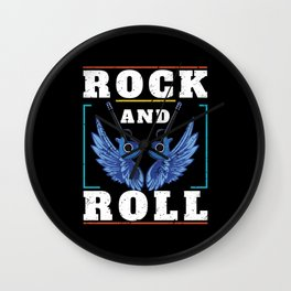 Rock And Roll Heaven Wall Clock