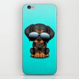 Cute Doberman Puppy Dog Wearing Sunglasses iPhone Skin