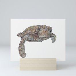 GREEN SEA TURTLE Mini Art Print