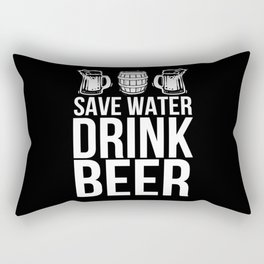 Drink Beer Rectangular Pillow