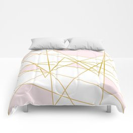 Pink and Gold Comforters