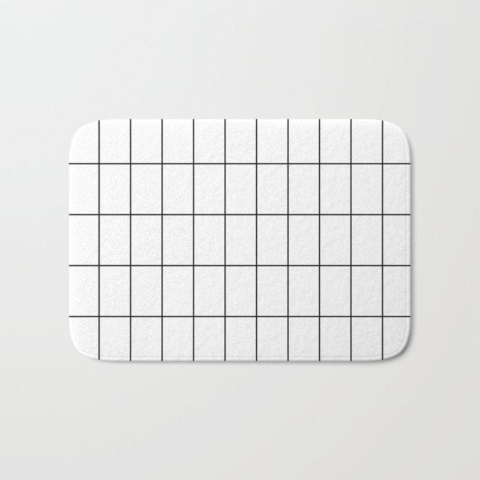 City Grid Bath Mat