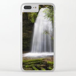 Ethereal Shadow Falls Clear iPhone Case