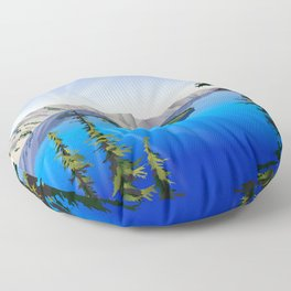 Crater Lake National Park Floor Pillow