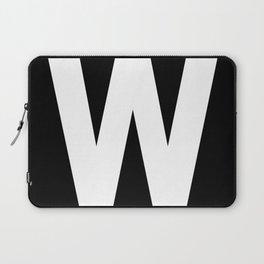 Letter W (White & Black) Laptop Sleeve