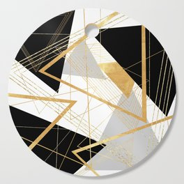 Black and Gold Geometric Cutting Board