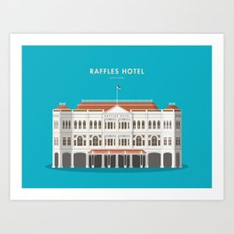 Raffles Hotel, Singapore [Building Singapore] Art Print