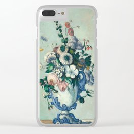 Paul Cezanne, Flowers in a Rococo Vase,1876 Clear iPhone Case