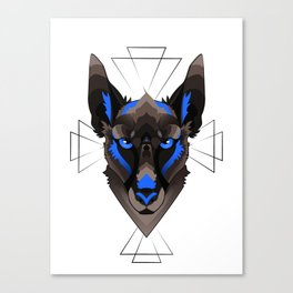 Graphic Belgian Malinois Canvas Print