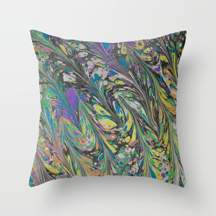 Marble Print #11 Throw Pillow