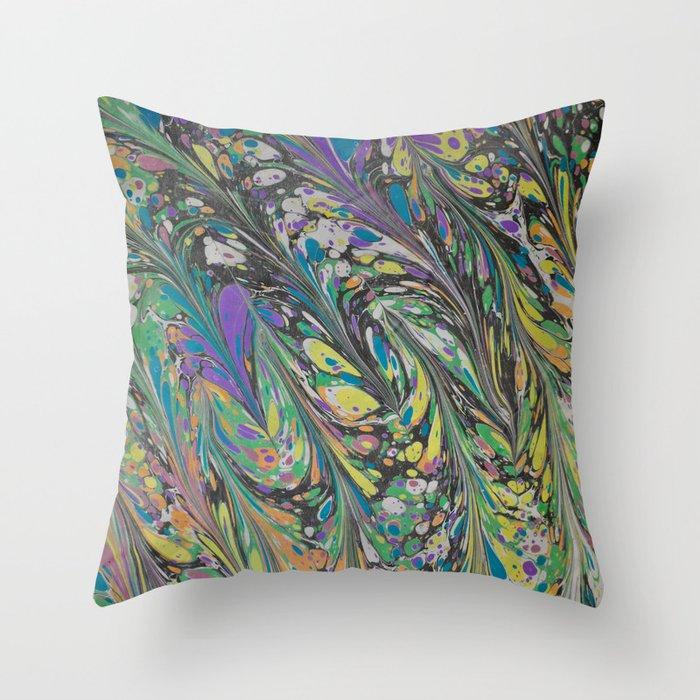 Marble Print #11 Throw Pillow