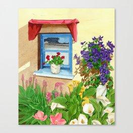 provencal_blue_window Canvas Print