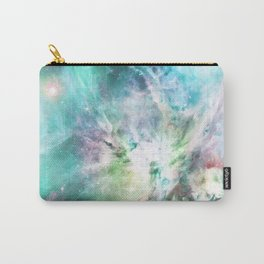 Abstract teal pink cosmic nebula space galaxy Carry-All Pouch