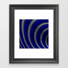 Blue And Silver Curves Framed Art Print