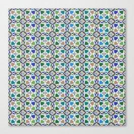 Moroccan Ceramic Tiles Mosaic Canvas Print