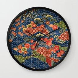 Japan Quilt Wall Clock